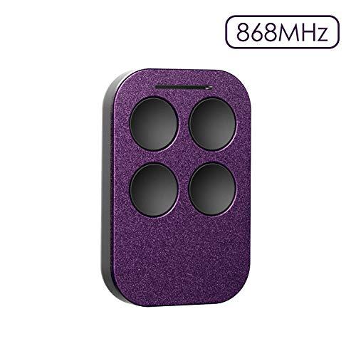 Radiocomando universale telecomando apricancello multifrequenza da 300 mhz a 868 mhz, 4 tasti, autoapprendimento, compatibile con bft, faac 433-868 slh, genius ecc, refoss rgr871