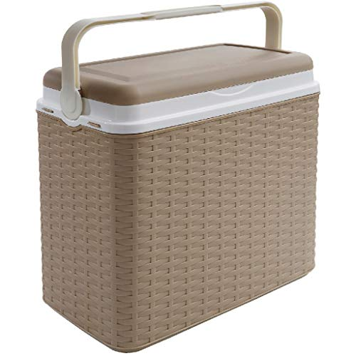 AK Sport Kühlbox 24 L Rattan Coolbox, Beige, One Size