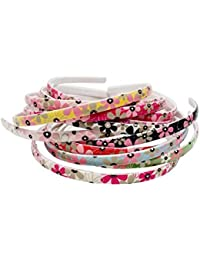 Foreignholics Multi-colour Flowers Daily Use Plastic Hair Bands For Girls And Women (Set Of 12 Hair Bands)