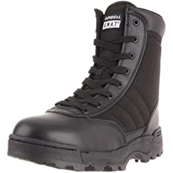 Original SWAT Uso Botas 1152Side Zip Negro Negro Talla:46 EU