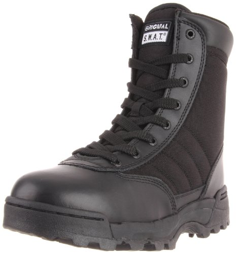Original SWAT Einsatzstiefel 1152 Side Zip, Schwarz, 42, 811152 Side Zip Steel Toe Boots