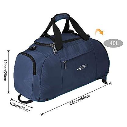 G4Free-3-Weg-Travel-Duffel-Rucksack-Gepck-Gym-Sporttasche-mit-Schuhfach