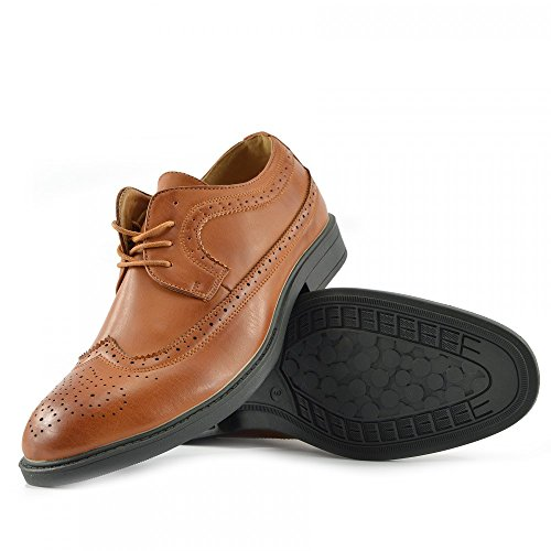 Kick Footwear Herren Casual Anzug Wildleder Formal Office Smart Work Lace Up Oxford Schuhe Tan