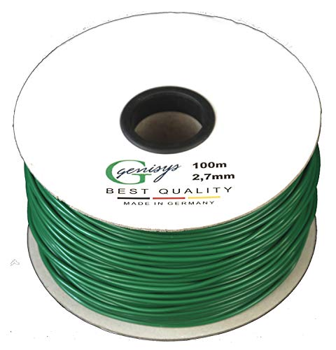 genisys Begrenzungskabel Kabel 100m Begrenzungs Draht Ø2,7mm | HQ Kupfer | auf der Kabelrolle | kompatibel mit Honda Miimo 310 520 3000