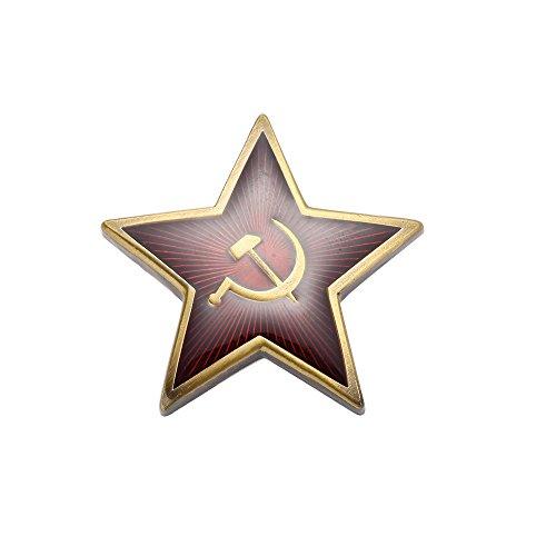 Gudeke Sowjetischen Roten Stern mit Hammer und Sichel Icons CCCP Brosche Russisches Rote Sternflagge Emblem Sozialismus Revers Pin Abzeichen