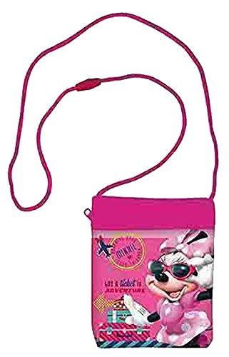 Kinder Brustbeutel Geldbeutel Portemonnaie Umhängetasche Brusttasche Geldtasche (Minnie Maus)