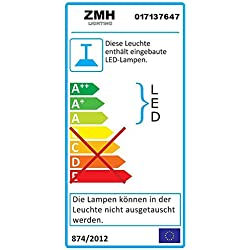 ZMH LED Lampes de lecture liseuse 3W applique murale lampe de chevet 3000K blanc chaud col de cygne applique murale en cuivre 360 ° lit lumière flexible lumière, 2 pcs