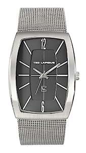 Ted Lapidus - 5128403 - Montre Homme - Quartz Analogique - Cadran Argent - Bracelet Acier Argent