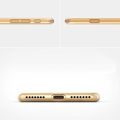 Coque iPhone 7 Plus, iPhone 7 Plus Coque 360 Degres, SainCat Ultra Slim Full Protection 360 Coque Cover pour iPhone 7 Plus, Coque en Plastique 360 Degres Avant et Arriere Full Body Ultra Resistante Fu Rouge