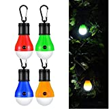 Camping Light TAOtTAO 4Pcs Outdoor Emergency Lamp LED Camping Hik Tent Fishing Lantern Hanging Light
