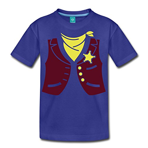 esetzeshüter Kostüm Teenager T-Shirt, 158/164 (12 Jahre), Königsblau (Saloon Mädchen Halloween Kostüme)