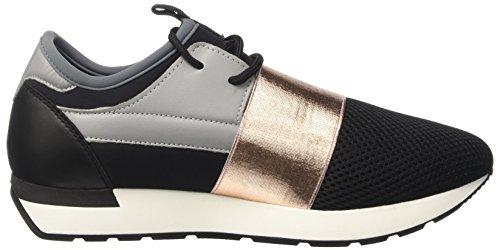 Pollini Damen Boss Niedrige Sneaker Mehrfarbig (Multicolor)