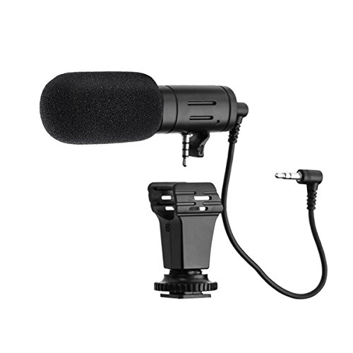 EIVOTOR, Kamera Mikrofon abziehbar Richtrohrmikrofon Stereo Camcorder Mikrofone Video Interview Mikrofon für Handy PC Smartphone Nikon Canon DV Camcorder DSLR Kamera mit 3,5mm MIC-Buchse