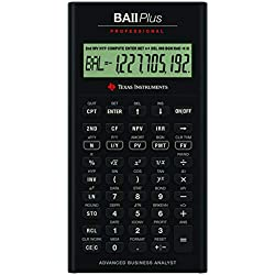 Texas Instruments BA II Plus Professional Calculatrice financière