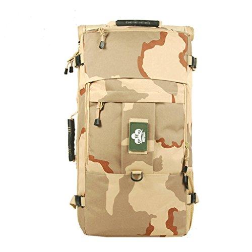 Multifonction sac à bandoulière randonnée en plein air sac à dos sports de plein air forfait d'équitation sac de randonnée imperméable à l'eau 60L