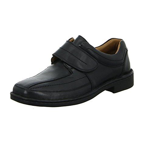 scarbello Y02-Y02-01 Herren Slipper Halbschuh Komfort sportlicher und eleganter Boden Schwarz (Schwarz)