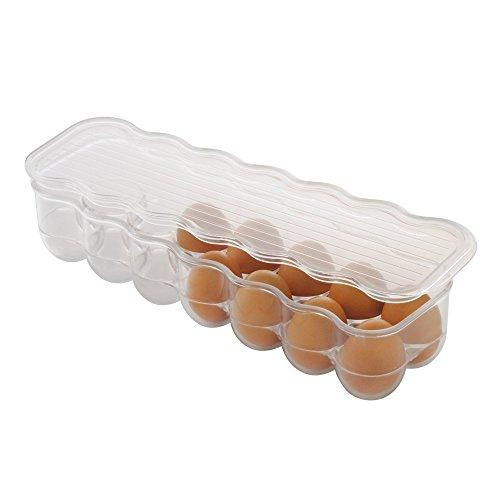 Interdesign fridge/freeze binz contenitore per uova, portauova in plastica impilabile per 14 uova, trasparente
