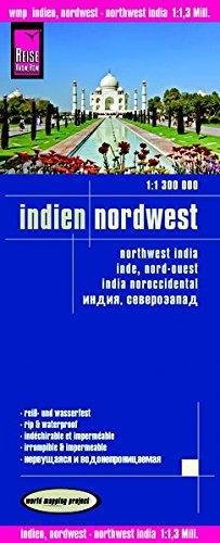 India noroeste, mapa impermeable de carreteras. Escala 1:1.300.000 impermeable. Reise Know-How. (World Mapping Project)