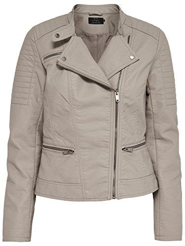 622f5d68eccb ONLY Damen Jacke Onlnew Start Faux Leather Biker CC OTW