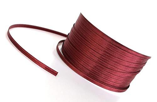 Konrad Arnold Satinband 50m x 3mm weinrot - Bordeaux Dekoband Geschenkband Schleifenband