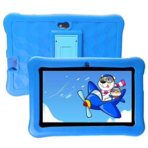 Tablet per Bambini 2 a 12 anni Android 6.0 - Tablet 7 Pollici Modalità Bambino 2GB RAM 32GB ROM Quad Core Doppia Fotocamera Silicone Custodia - Tablet Bambini con Wifi Offerte Supporto Youtube Netflix