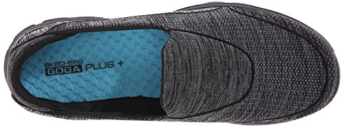 Skechers GO Walk 3 Super Sock 3, Baskets Basses Femme Black (Bbk)