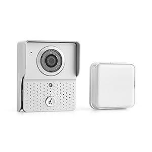 oneConcept Door Guard WiFi - Sonnette de porte / interphone wifi avec caméra à LEDs infrarouges, micro et haut-parleur - app iOS et Android - fonctions alarmes, photos et vidéo