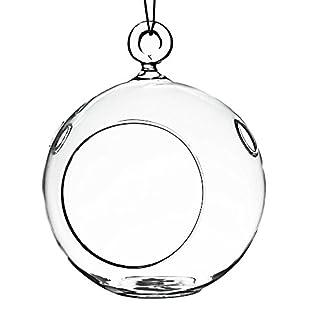 Szqiqi 9Pcs/18Pcs Portavelas De Cristal Colgantes Bolas De Vidro Colgante De Las Decoraciones Creativas Portavelas para Bodas Románticas/celebración De Cumpleaños/Decoraciones De Fiestas