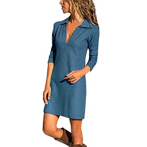 Kostüm Plus Belle - Beonzale Damen O-Neck Stitching Rüschen Stitching Laterne Ärmel Mini Loose böhmischen Print Fledermaus Baggy Plus Size Frauen Maxi-Kleid