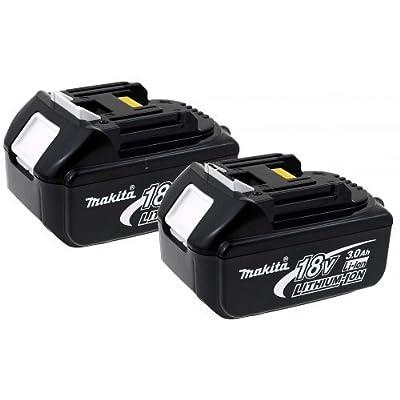 2 x Akku für Werkzeug Makita Typ BL1830 3000mAh Original (2er Set) mit LED, 18V, Li-Ion