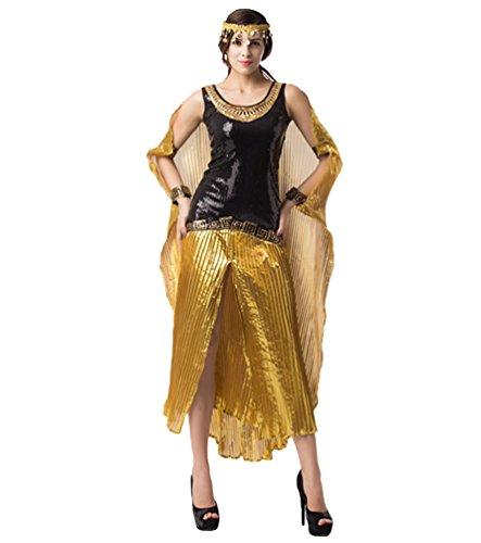 Anguang Damen Ägyptische Königin der Kleopatra Kostüm Kostüm Halloween Dekoration Party Kostüm ()