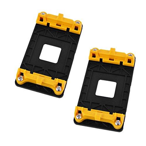 sourcing map 2stk AM2 AM2+ AM3 AM3+ FM1 FM2 Plastik AMD CPU Lüfter Halter Ständer Buchse Gelb DE de
