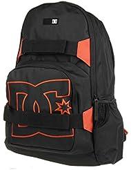 DC Shoes Nelstone Sac à dos unisexe Noir Orange Backpack Skate Pack