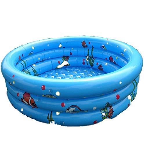 Baden Tubs & Sitze Kinder Baby-Paddling Tub aufblasbaren Swimming-Pool Home Blau/Orange Kleinkind Badewanne (Farbe : Blau, Größe : 125 * 40cm)