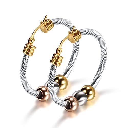 Mann Kostüm Schlanker - GLJIJID Schlanker Minimalistischer Perlenschmuck, Damenohrringe Aus Edelstahl, Personalisierte Ohrringe Aus Gold