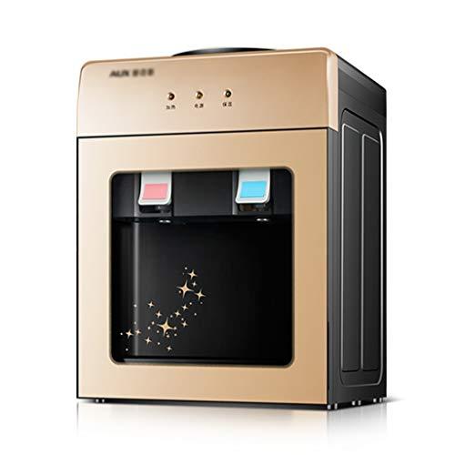 Wohnen Kühler & Wasserspender Wasserkühler Desktop mit tür Glas büro heißwasser Maschine warmes vertikales flaschenwasser (Color : Gold, Size : 28 * 26 * 36cm)