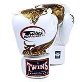 Twins Special Fancy Guantes de boxeo Gold Dragon Velcro en la muñeca 12onzas)