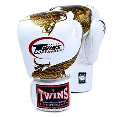 Twins Special Fancy Guantes boxeo Gold Dragon Velcro