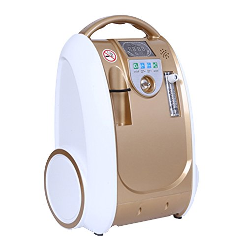 EstrerAntor Mobiler Sauerstoffkonzentrator Zuhause/Reisen 93% hohe Reinheit Stellen Sie 1-5L / min ein Sauerstoffgenerator Luftreinigungsapparat 230V AC / 12V DC Auto -