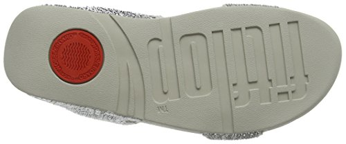Fitflop Electra Micro Slide - Sandali a Punta Aperta Donna Argento (Silberfarben)