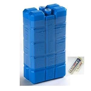 6 Kühlelemente Kühlakkus mit je 200g für Kühltasche Kühlbox etc. inkl. einem Kühl- / Gefrierschrankthermometer
