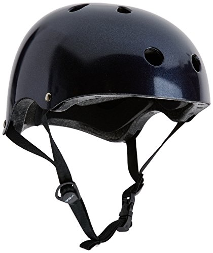 Helm für Skater,Scooter,Biker (Purple Fleck Black, XXS - XS  / 49  - 52 cm)