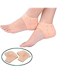 SYGA 1 Pair Heel Foot Protector,Plantar Fasciitis Foot Arch Support Ankle Pain Relief Socks with Hole_Skin