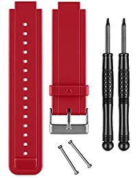 Garmin Adjustable Silicone Watch Band Kit for Vivoactive with Tools Red