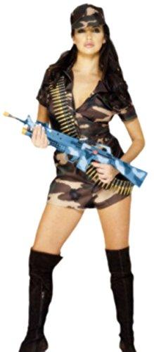 erdbeerloft - Damen Army Girl Camouflage Kostüm, S, Mehrfarbig