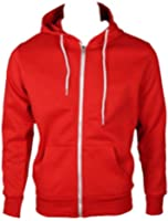 Home of Fashion Womens Red Hooded Jumper Jacket