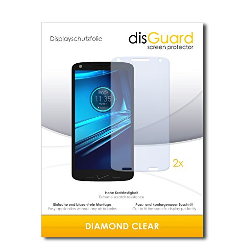 2 x disGuard® Bildschirmschutzfolie Motorola Droid Turbo 2 Schutzfolie Folie