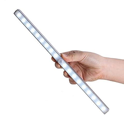 Motion Sensor Wardrobe Light, 18 LED Cabinet Light, Wireless PIR Motion Sensor Light Bar, Rechargeable Battery Powered, LED Night Light for Closet, Attics, Hallway, Washroom, Cabinet, Wardrobe, Stairway, Cupboard