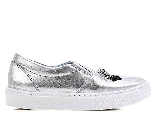 Chiara Ferragni silber metallic Leder Slip-ons Turnschuhe - Modellnummer: CF1272 Silber