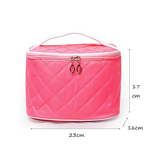 CLOTHES- Pacchetto pratico di immagazzinaggio cosmetico pratico impermeabile pieghevole portatile di immagazzinaggio Handmade del sacchetto cosmetico ( Colore : Rose red ) Anguria rossa